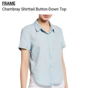 FRAME Chambray Top